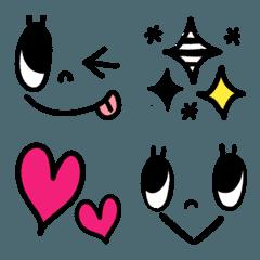 シンプル顔文字&絵文字2