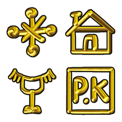Gold symbol sign
