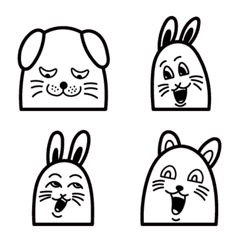 いろんな表情の動物絵文字