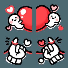 繋げてお祝い絵文字(LOVE)
