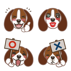 ビーグル犬「きなこんぶ」絵文字