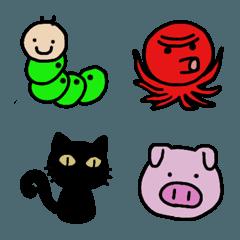 動物と虫の絵文字