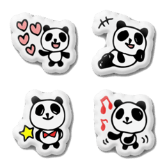 【ぷにぷに】手書きパンダ 絵文字2♪