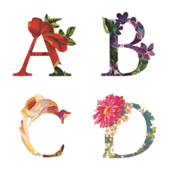 花文字 Flower Arrangement Font