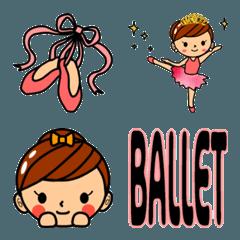 バレエ大好き!!バレリーナちゃん絵文字