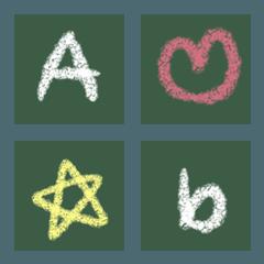 黒板のアルファベット (手書き)