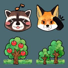 楽しい森の動物たちの絵文字