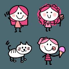 ピンクで可愛い毎日♪絵文字