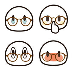 シンプルな絵文字3 【メガネ】