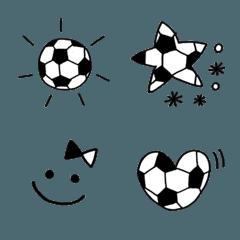 サッカー大好きモノクロ絵文字