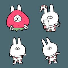 大人可愛いウサギの絵文字♥