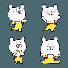 オーバーオールを着たクマの絵文字②♪