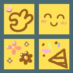 かわいいチョコレート付箋 [顔]