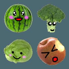 フルーツと野菜の気持ち 絵文字 1