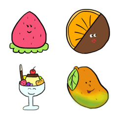 可愛いフルーツ絵文字