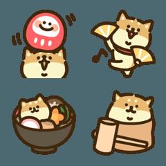 柴犬づくし★お正月年賀状(赤毛)