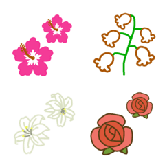 色々、お花の絵文字