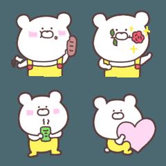 オーバーオールを着たクマの絵文字④♥