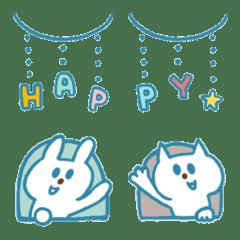 青いウサギと青いネコの誕生