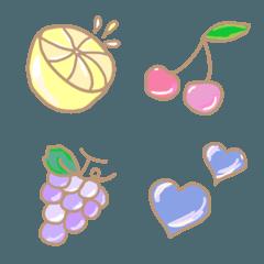 ふんわりフルーツ絵文字