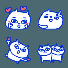 青のネコネコ絵文字