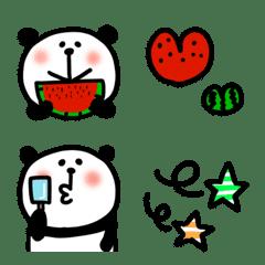 パンダのセットで使いやすい絵文字(夏)