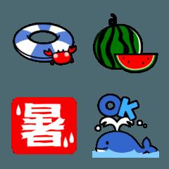 夏用シンプル絵文字