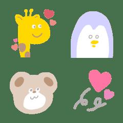 パステル動物 絵文字 かわいいシンプル