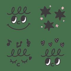 シンプル顔文字~お洒落カラー~