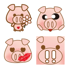 Big face pig(the pig like eating apple)