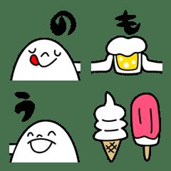 ぴょこっと繋がる顔絵文字3