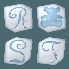 アイスエイジキューブ A-Z かわいい 絵文字