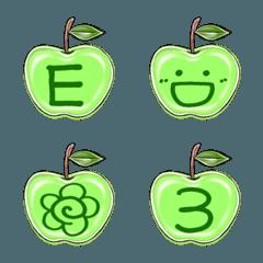 絵りんご-GREEN-デコ文字