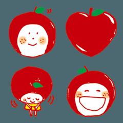 りんごのこ 絵文字 001