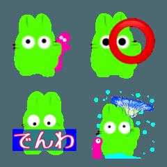 グリーンラビットとPちゃん! 絵文字編
