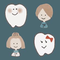 かわいい歯医者さんと歯の絵文字