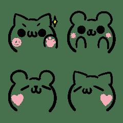 ねことくまの顔文字風・絵文字3