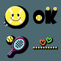 テニス好きのためのユニークな絵文字