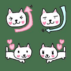 【絵文字】ハートほっぺのネコちゃん♡♥