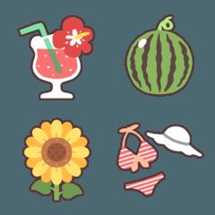 【すうが作る】夏の絵文字たち
