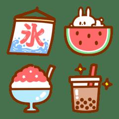 夏のシンプルな絵文字【海*花火*スイカ】