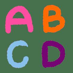カラフルな水彩画ABC