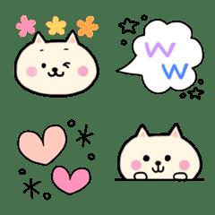 大きめ★猫とカラフル絵文字