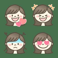 外ハネちゃん★表情いっぱい 絵文字 セット