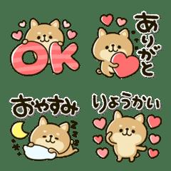 豆柴日和♡デカ文字メッセージ