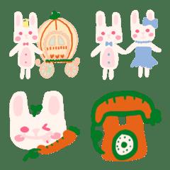 ニンジンカップル白ウサギ