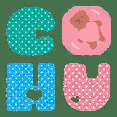 かわいいぽっちゃり (A-Z) 絵文字 脂肪