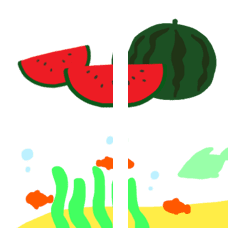 つなげるデコレーション絵文字♥️夏