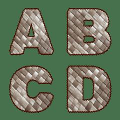 パンダナスの葉のアルファベット