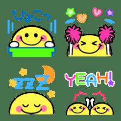半月ニコちゃん♡可愛い絵文字